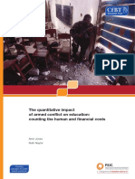 The Quantitative Impact of Armed Conflict on Education