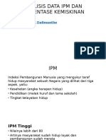 Analisis Data Ipm Dan Presentase Kemiskinan