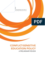 Conflict-Sensitive Education Policy, A Preliminary Review
