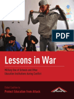 Lessons in War Military Use of Schools and Other Education Institutions During Conflict