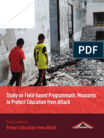 Study on Field-based Programmatic Measures to Protect Education From Attack