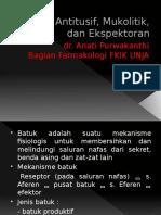Antitusif, Mukolitik, dan Ekspektoran.pptx