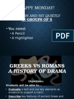 greek v  roman ppt