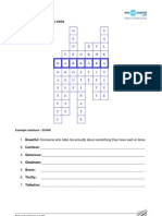 Crossword Personality Features (Unit 7)