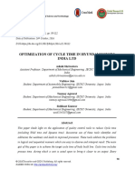 Optimization of Cycle Time in Hyundai Motors India Ltd