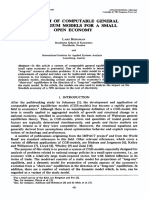 A System of Computable General Equilibrium Models for a Small Open Economy