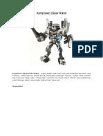 Komponen Dasar Robot