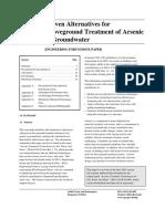 Proven Alternatives for Arsenic Removal