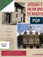 Estado y Municipio en Bolivia - Gustavo Rodríguez