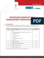 Nmat by Gmac Information Handout 2017
