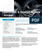 Service Datasheet Gearboxes and Geared Motors Intelligence Service Annual