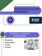 Ion Pruteanu Consideratiuni Privind Integritatea