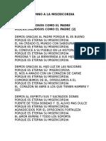 Himno a La Misericordia 2016  JORNADA DE JOVENES