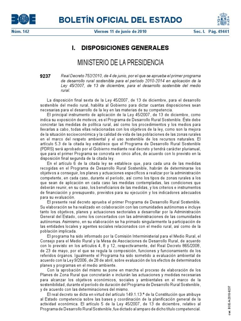 Primer Programa De Desarrollo Rural Sostenible Para El Per Odo  # Muebles Nazaret Los Santos De Maimona