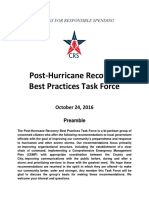 CRS Post Hurricane Recovery Task Force Final Report