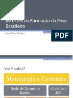 Matrizes Da Formação Do Povo Brasileiro