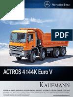 Ficha Técnica Actros 4144 K - EURO V