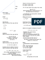 Vector Analysis Reviewer