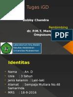 Tugas IGD Dr. Mangalindung, Sp.B