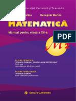 Manual Matematica Clasa XII M2