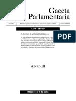 Declaratoria de Publicidad Reformas Sistema Nacional Anticorrupción