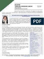 ESU Mauritius Newsletter August 2016