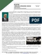 ESU Mauritius Newsletter June 2014