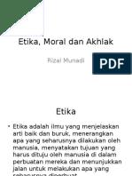 Etika Moral Dan Akhlak