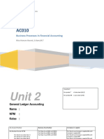 Unit 2 General Ledger Accounting Practice
