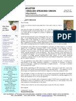 ESU-Mauritius Newsletter - December 2012
