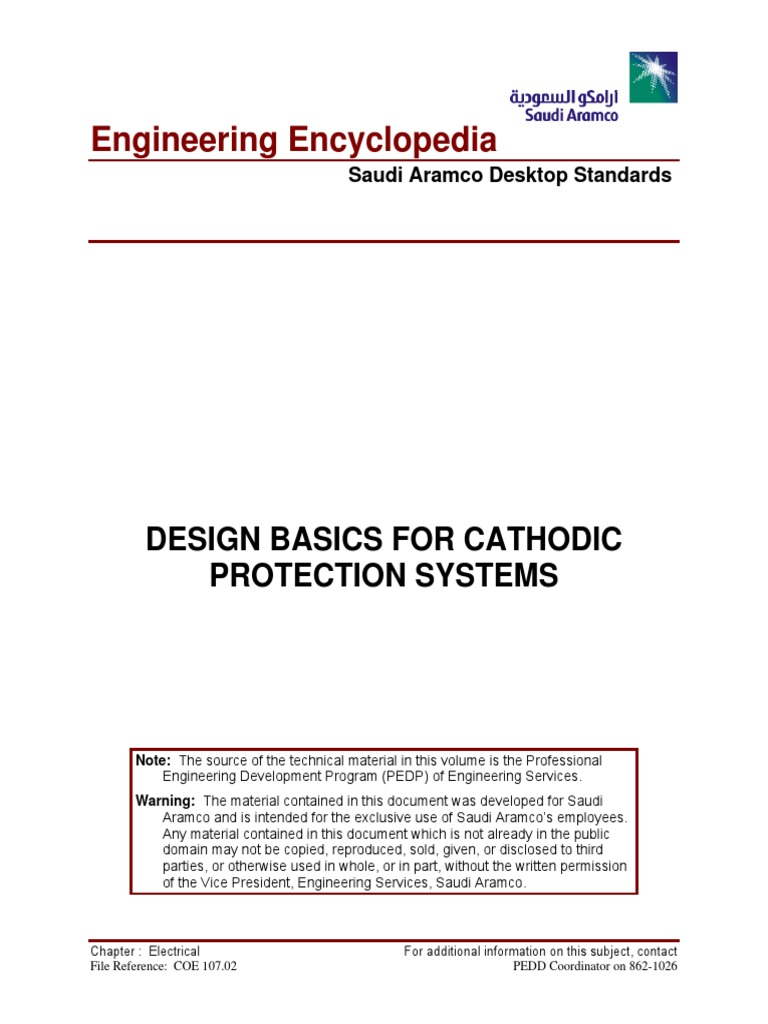 COE 107.02 Design Basics for Cathodic Protection Systems | Rectifier | Anode