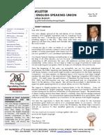 ESU-Mauritius Newsletter - June 2013