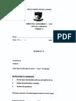 P4 English SA1 2015 ACS Junior Exam Papers