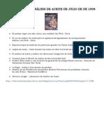 La Práctica de Análisis de Aceite de Julio de de 1998