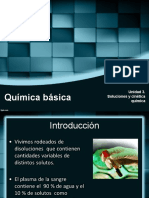 Unidad 3. Preparación de Soluciones y Cinética Química 2016