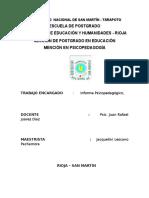 Informe psicopedagógico Jacquy