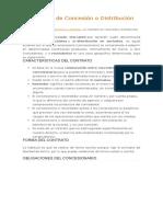 El Contrato de Concesión o Distribución Mercantil