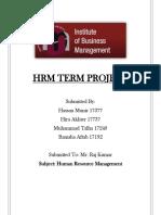 HRM Term Report