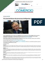 10 características de personas inteligentes, según estudios _ El Comercio