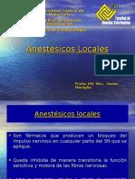 Anestésicos Locales, farmacología veterinaria