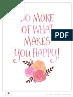 Happy Quote Printable