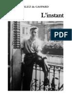 eBook Pierre Gonzalez de Gaspard - l'Instant