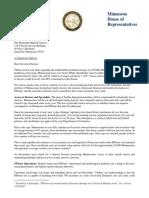Letter from Speaker Daudt to Governor Dayton 10-26-2016