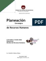 Planeación Estratégica de Recursos Humanos