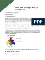 Arti Warna Dalam Ilmu Psikologi
