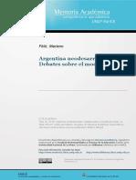 Argentina Neodesarrollista, Debates Sobre El Modelo