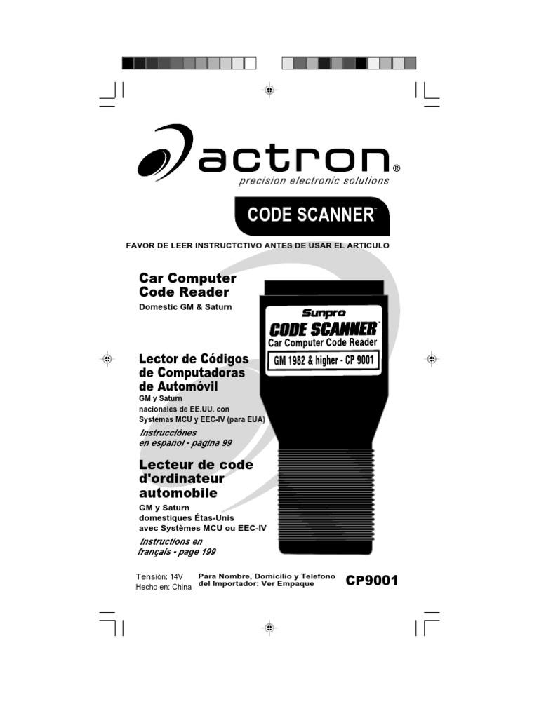 Actron Gm Code Scanner Cp9001 Throttle Transmission Mechanics 1989 Oldsmobile Cutlass Supreme 28l Under Driver Dash Fuse Box Diagram