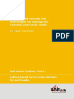 Labour Based Methods for Earthworks