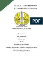 Rpp 1 SMP Aljabar