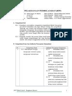RPP Komponen Listrik KD 3.3-4.3
